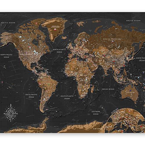 murando Fotomurali adesivi Mappa del mondo 441x315 cm carta da parati audoadesiva carta da parati moderna fotomurale carte da paratiMonde k-A-0206-a-a