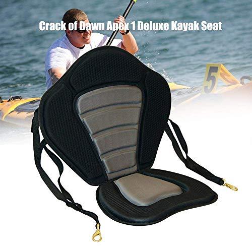 NUOBUGYB Cojín de Asiento Blando para Kayak, Asiento de Barco de Kayak Acolchado, Base Acolchada para Barco de Remo, cojín de Kayak Ajustable Alto con Respaldo