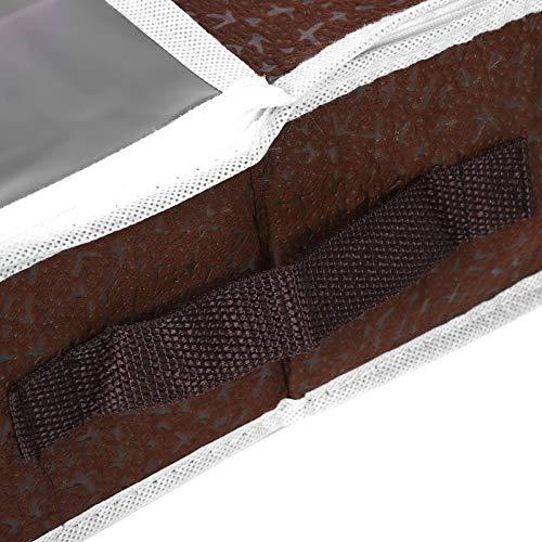 Shoe Bag Shoe Storage Bag Shoe Organizer Shoes Storage Box Coffee for Under the Bed Closet(Large size (84 * 31 * 11.5cm))