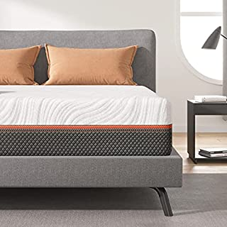 """Queen Size Mattress, Sweetnight 12"""" Hybrid Mattress with Gel Memory Foam & Pocket Innerspring for Cool Sleep & Edge Support, Bed Mattress with Moisture Wicking Adaptive Cover, Medium Firm, Queen Size"""