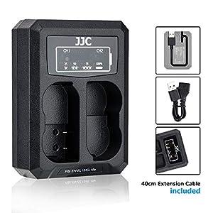 EN-EL15 EN-EL15a EN-EL15b cargador de batería, cable USB integrado de doble cargador, compatible con Nikon Z6 Z7 D850 D810A D810 D800E D800 D750 D610 D600 D500 D7500 D7200 D7100 D7000