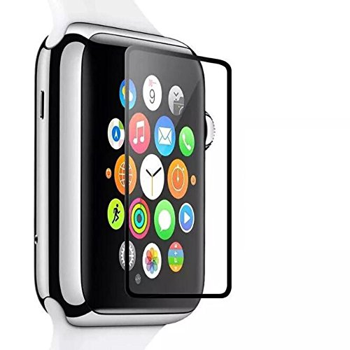 42mm Screen Protector for Apple Watch iWatch, YaSaShe 0.2mm 2.5D Tempered Glass Film (42mm(Black))