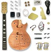 DIY Electric Guitar Kits For LP Guitar, Okoume Body, Maple Neck,Composite Ebony Fretboard