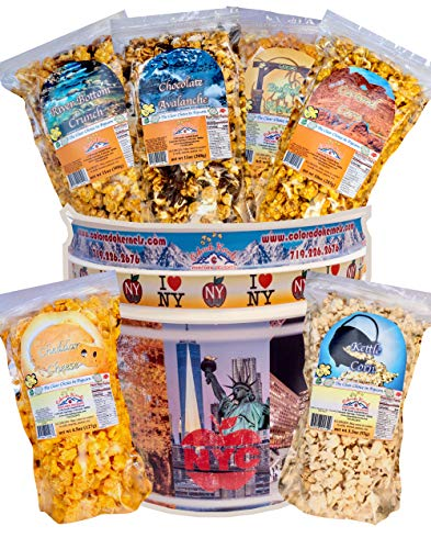 Check Out This Popcorn by Colorado Kernels Popcorn Delights | 3.5 Gal CELEBRATE NEW YORK Bucket with...