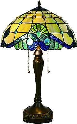 Lampada Da Tavolo Antico Di Base Metallica Comodino Desk Lamp Vetro Comodino Di Protezione Ambientale Di Alta Qualita Di Esecuzione Squisita Color Color Size 16inch Amazon It Casa E Cucina