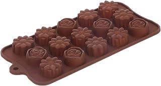 قالب سيليكون للشوكولاتة من الياسين - بني - 25 × 11 سم