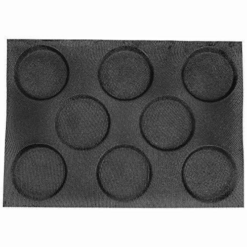 NEYOANN Formas de Pan de Hamburguesa de Silicona Moldes de PanaderíA Perforados Hojas Antiadherentes para Hornear TamaaO de Medio Molde