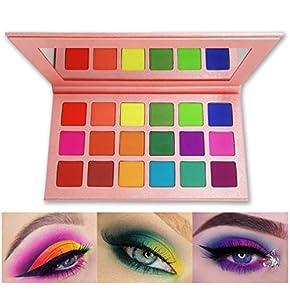Neon Pigment Eyeshadow Powder,FindinBeauty 6 Mixed Bright True Colors Eye Shadow Pigments Fluorescent Matte Mica Dye Colorant Neon Makeup Set