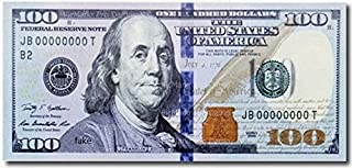 1/4 - One Hundred Dollar Bill Background Edible Cake/Cupcake Party Topper - D21383