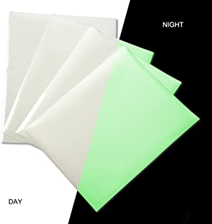 Glow in Dark Heat Transfer Vinyl Sheets Glossy Iron on HTV Vinyl Adhesive Glowing Craft Film Paper Green