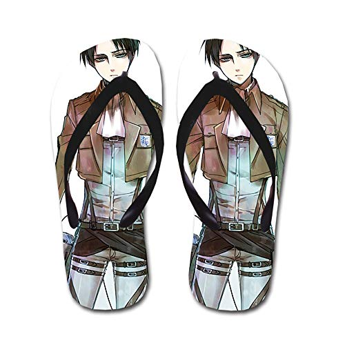 KaiWenLi Attack On Titan Series/Levi · Rivaillei Dress Pattern/Animation Flip Flops/Beach Beach Shoes/Thong Sandals/Best Shoes in Summer/Best Gifts for Anime Fans and Otaku (Size : L)