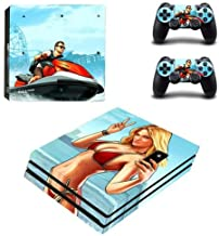 PS4 Pro Console and Controller Skin Set - GRAND THEFT AUTO 5 Gaming Vinyl Skin Cover by Mr Wonderful Skin