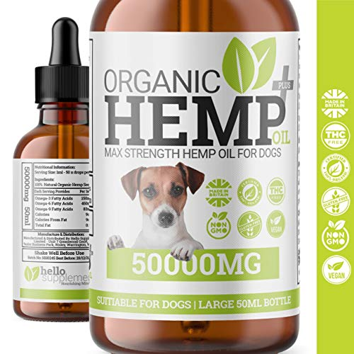 1 x DOG ANXIETY RELIEF HEMP OIL DROPS | Natural Supplement For Dogs & Cats | Omega 3,6,9 | Made In UK (SINGLE)