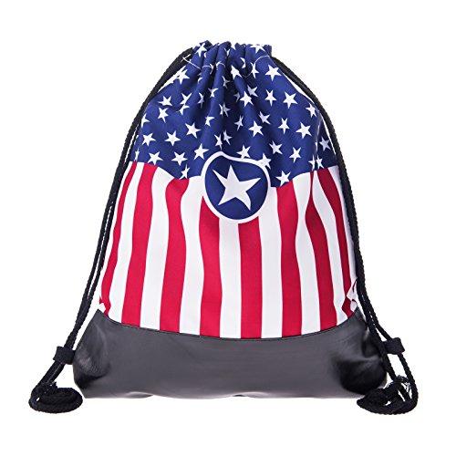 Loomiloo lederen tas gymtas coole opdruk - rugzak tas jute tas sporttas gymtas tas backpack