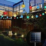 Guirnalda Luces Exterior Solar, Bteng Cadena de Luces 11 Metros 60 LED, 8 Modos de Luz, Decoración para Navidad, Fiestas, Bodas, Patio, Dormitorio Jardines, Festivales, etc (Multicolor)