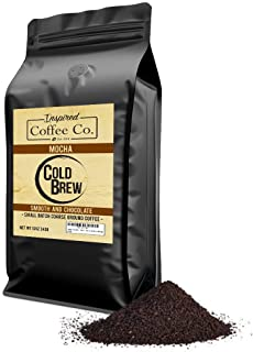 Mocha - Flavored Cold Brew Coffee - Inspired Coffee Co. - Coarse Ground Coffee - 12 oz. Resealable Bag