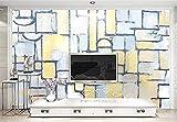 Fondos de pantalla de bloques de color de celosía abstracta murales de pared Pared Pintado Papel tapiz 3D Decoración dormitorio Fotomural de estar sala sofá mural-400cm×280cm