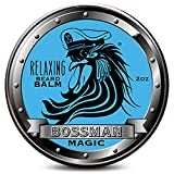 Bossman Relaxing Beard Balm - Tamer, Thickener, Relaxer and Softener Cream and Beard Care Product - Made in USA (Magic Scent)