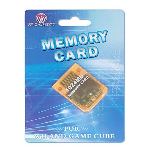 WiCareYo 1024MB Speicherkarte memory card für GameCube oder Wii Konsolen