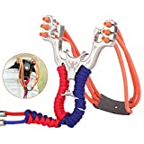 CREEYA Slingshot for Hunting, Professional Slingshots with Round Rubber Bands,High Velocity Catapult for Kids Children Adults Fun and Outdoor Games