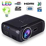 Mini vidéoprojecteur portable LED 1000 Lumens HD Carte SD USB Noir