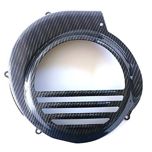 Boita 2.0 Lenkrad-Abdeckung aus Eisen Vespa PX PE Carbon schwarz glänzend - kompatibel mit Vespa Elektrostarter