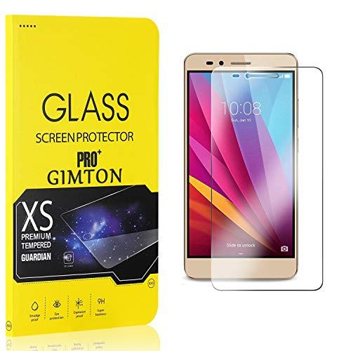 GIMTON Displayschutzfolie für Huawei Honor 5X, 9H Härte, Anti Bläschen Displayschutz Schutzfolie für Huawei Honor 5X, Einfach Installieren, 3 Stück