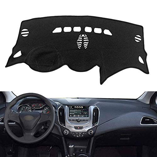 Autoxrun Black Dash Cover Dashboard Protector Dashmat Car Accessories Sun Shade Replacement for 2017 2018 Chevrolet Cruze