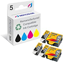 HOTCOLOR 5-Pack #10XL (2 Color and 3 Black) Compatible for Kodak 10B 10C Compatible Ink Cartridges for EasyShare 5100 5300 5500 Kodak ESP 3 3250 5 5210 5250 6150 7 7250 9 9250