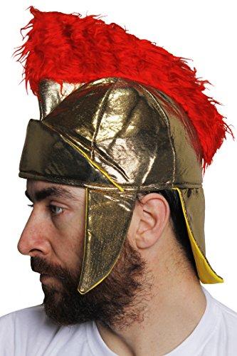 I LOVE FANCY DRESS LTD Un Casque Mou de Romain Couleur Or avec Une crête Rouge Digne d'un Centurion. Ideal pour Les enterrements de Vie de garçon.