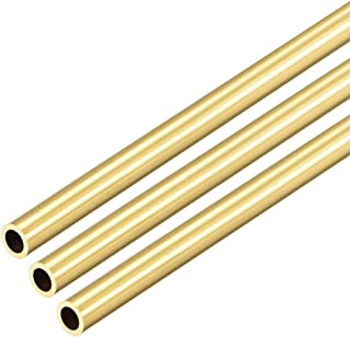 uxcell Brass Round Tube 300mm Length 6mm OD 1mm Wall Thickness Seamless Straight Pipe Tubing 3 Pcs