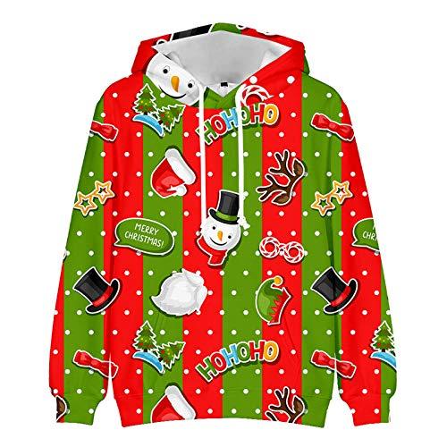 WLZQ Otoo E Invierno Suter De Pareja Suter De Navidad Sudadera Suter De Navidad para Nios Chaqueta De Suter con Estampado De Moda