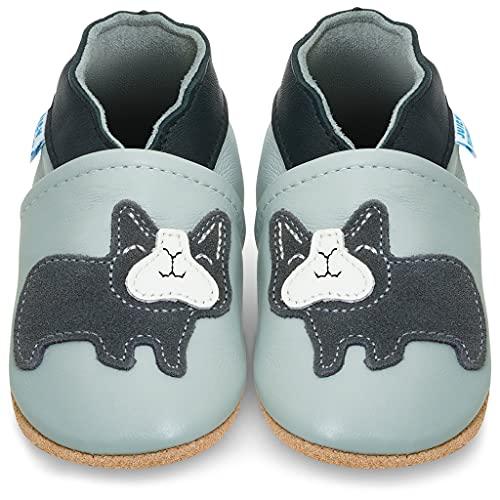 Zapatillas Bebe Niño - Zapato Bebe Niño - Zapatos Bebes - Calzados Bebe Niño - Bulldog Gris...