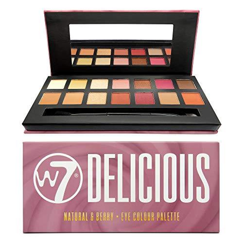 W7 Delicious Natural & Berry Eye Colour Palette Lidschattenpalette, 11.2 g