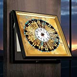 Bradoner Caja de distribución de pintura decorativa de la sala de estar con impresión de relojes/pinturas para restaurantes de 50 / 60 cm (color beige, tamaño: S)