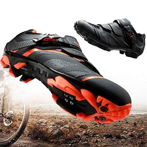 Zapatillas De Ciclismo SPD Pedal Mtb, Bicicleta Zapatos Con Autobloqueo De Encaje...
