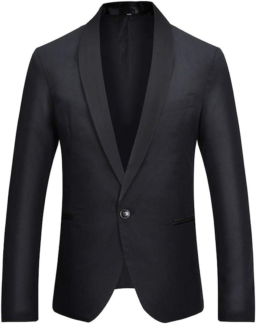 Men's White Blazer with Black Button New product Minneapolis Mall type Fit Neck One Slim
