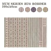 ラグ MUM RUG BORDER 100x140cm ラグ 絨毯 じゅうたん カーペット ボーダーOR