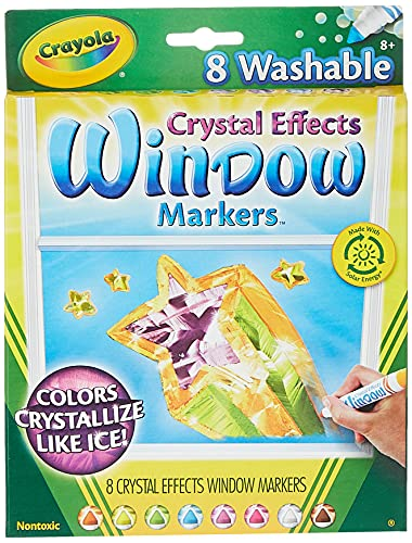Crayola Washable Crystal Effects Window Markers, 8 ct