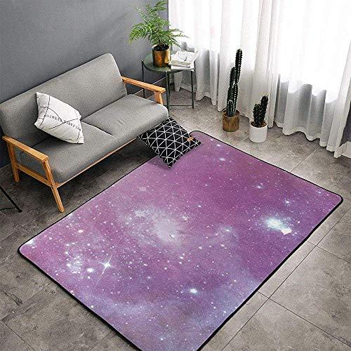 Marlon Kitty Alfombras Suaves para el Piso Alfombras mullidas Lavables a máquina Espacio Adecuado Estrellado Dormitorio, Oficina, Mesa de Centro, alfombras de balcón