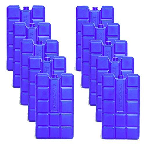 NEMT 10 Stück 400 ml Kühlakkus Kühlelemente für Kühltasche oder Kühlbox bis 20 h Kühlpack Kühlakku