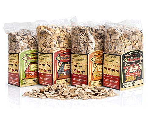Axtschlag Allstars Räucherchips Sortenmix, Wood Smoking Chips, 4 Sorten,