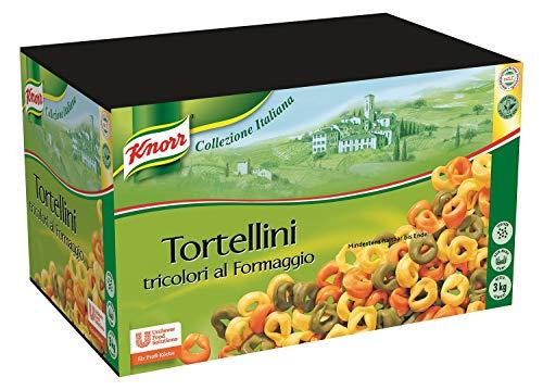 Knorr Tricolori al Formaggio - Tortellini mit Käsefüllung - Nudeln Großpackung, 3000 g, 30993