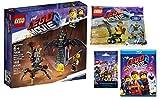 Brick People Regular Emmet W/ Extra-Ordinary Friends: The Lego Movie The Second Part BLU-RAY Ultimate Builders Bundle W/ Battle-Ready Batman + MetalBeard 70836 + Mini Master Emmet 30529 + Mystery Fig