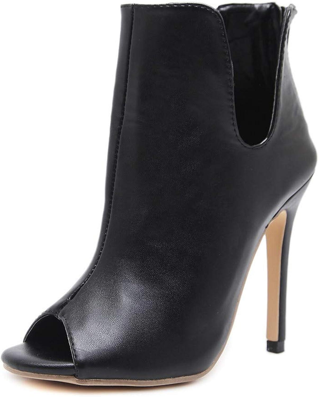 Sandalen Europäische Und Amerikanische Frauen Künstliche Pu-Mode 12Cm 12Cm 12Cm Sexy Vielseitig Komfortable High Heel Stiefel  06b857
