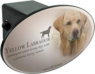 Trailer Hitch Cover CafePress Truck Receiver Hitch Plug Insert Yellow Labrador