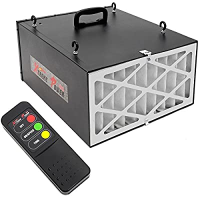 XtremepowerUS 3-Speed Remote Controlled Air Filtration System Programmable Timer (300/350/400 CFM) -Black by XtremepowerUS