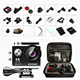 Action Cam 1080p , Bopower 4K 12MP HD-Aktion-Kamera FHD 2,0 Zoll 170 ° Weitwinkel 30M Wasserdicht...