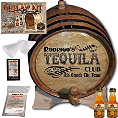 LASER ENGRAVED PERSONALIZATION - Beautifully engraved featuring your personal attributes in stunning detail | 2019 Home Bar Series - Design 204: My Tequila Club | Popular gift selection for spirit enthusiasts MAKE YOU OWN SPIRITS - Enjoy up to 70 % s...
