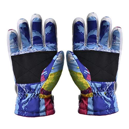 Ski-handschuhe Kinder Handschuhe Winter-fahrrad Reithandschuhe Windsicher Warm Touchscreen Handschuhe Für Kinder Jungen Mädchen Für Radfahren Laufen Outdoor-aktivitäten Blau 2st